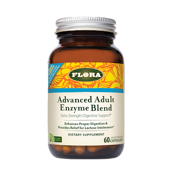 Flora Advanced Adult Enzyme Blend 60 caps F13795