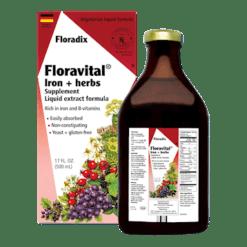Flora Floravital Iron Herbs Yeast Free 17 oz F47716