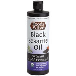 Foods Alive Black Sesame Seed Oil Organic 8 fl oz FAL966