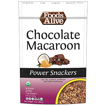 Foods Alive Chocolate Macaroon Snackers 3 oz FAL713