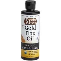 Foods Alive Gold Flax Seed Oil Organic 8 fl oz FAL300