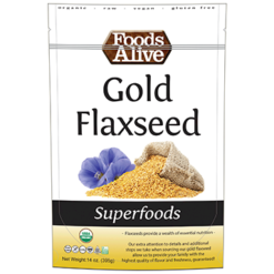 Foods Alive Gold Flaxseed Organic 14 oz FAL508