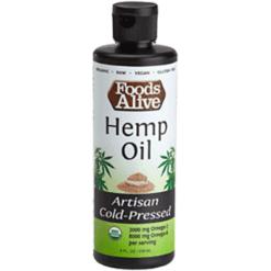 Foods Alive Hemp Seed Oil Organic 8 fl oz FAL850