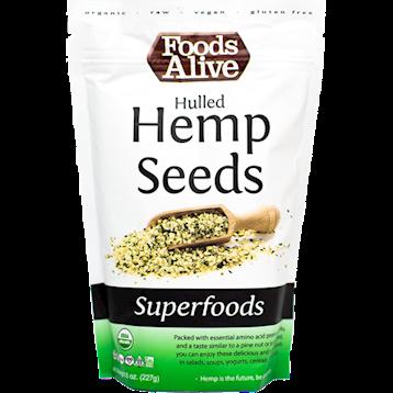 Foods Alive Hulled Hemp Seeds Organic 8 oz F00386