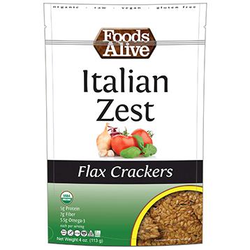Foods Alive Italian Zest Crackers 4 oz FAL027