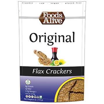 Foods Alive Original Flax Crackers Organic 4 oz FAL010