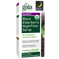 Gaia Herbs Black Elderberry Nighttime Syrup 3 oz C08003