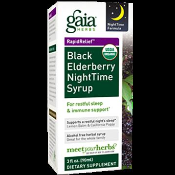 Gaia Herbs Black Elderberry Nighttime Syrup 3 oz C08003