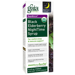 Gaia Herbs Black Elderberry Nighttime Syrup 5.4 oz C085P4