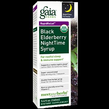 Gaia Herbs Black Elderberry Nighttime Syrup 5.4 oz C085P4