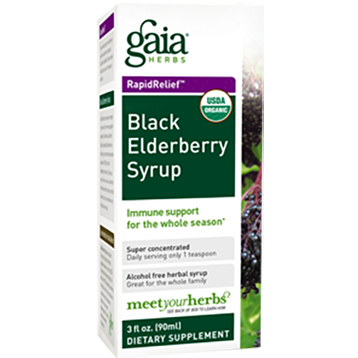 Gaia Herbs Black Elderberry Syrup 3 oz C07003