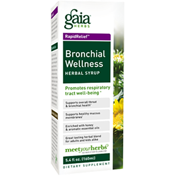 Gaia Herbs Bronchial Wellness Herbal Syrup 5.4 oz BRO35