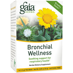 Gaia Herbs Bronchial Wellness Herbal Tea 16 bags G17020