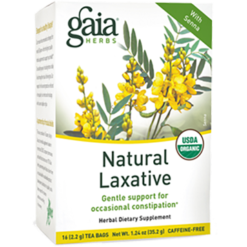Gaia Herbs Natural Laxative Herbal Tea 16 bags G19020