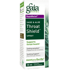 Gaia Herbs Rapid Relief Throat Shield 1 oz spray THROA2