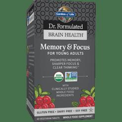 Garden of Life Dr. Form MemoryampFocus YngAdlts 60Tabs G21279