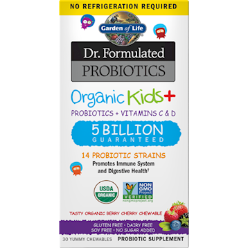 Garden of Life Organic Kids Probiotics Berry SS 30chew G21194