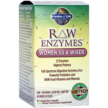Garden of Life RAW Enzymes Women 50 amp Wiser 90 vcaps G15643