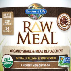 Garden of Life RAW Organic Meal Chocolate 17.4 oz G11695