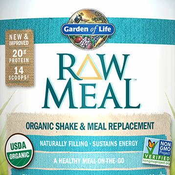 Garden of Life RAW Organic Meal Vanilla 16.7 oz G11693