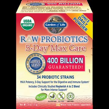Garden of Life RAW Probiotics 5 Day Max Care 2.4 oz G16664