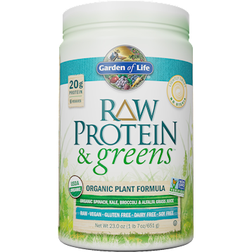 Garden of Life RAW Protein and Greens Lightly Sw 23 oz G18682