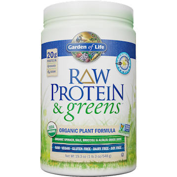 Garden of Life RAW Protein and Greens Vanilla 19.3 oz G18705
