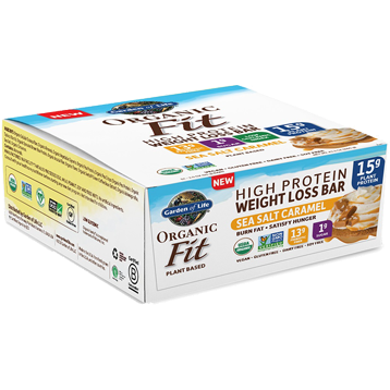 Garden of Life Sport Organic Fit Bar SeaSlt Car 12 Bars G19146