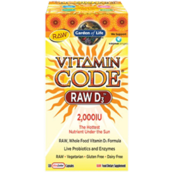 Garden of Life Vitamin Code® RAW D3™ 120 capsules G16565