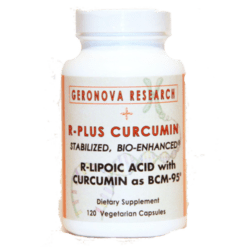 Geronova Research R Plus Curcumin 120 vegetarian capsules RPC