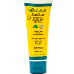 Grahams Natural USA SunClear Natural Sunscreen SPF 30 1.76oz GNA118