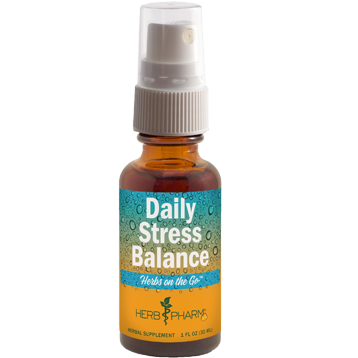 Herb Pharm Daily Stress Spray Herbs On The Go 1 oz H32128
