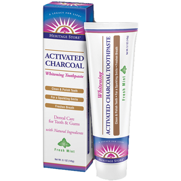 Heritage Activated Charcoal Toothpaste Mnt 5.1oz H86271