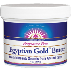 Heritage Egyptian Gold Butter Fragrance Free 4 oz H89204