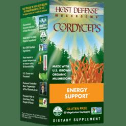 Host Defense Cordyceps capsules 60 vegcaps H31026