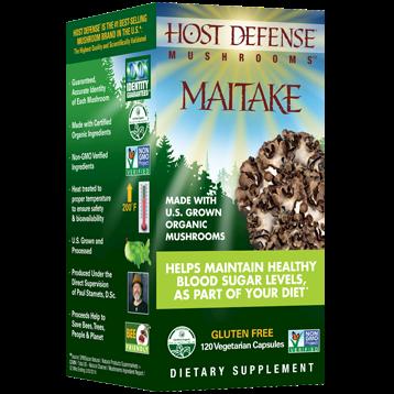 Host Defense Maitake Capsules 120 vegcaps H31538