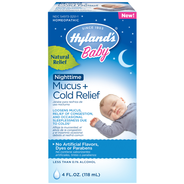 Hylands Baby Nighttime Mucus amp Cold Relief 4 fl H25111