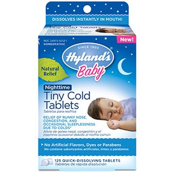 Hylands Baby Nighttime Tiny Cold 125 tablets H25210