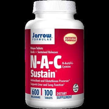 Jarrow Formulas N A C Sustain 600 mg 100 tabs J70016