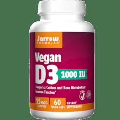 Jarrow Formulas Vegan Vitamin D3 1000 IU 60 vegcaps J00113