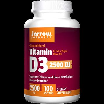 Jarrow Formulas Vitamin D3 2500 IU 100 softgels J90421