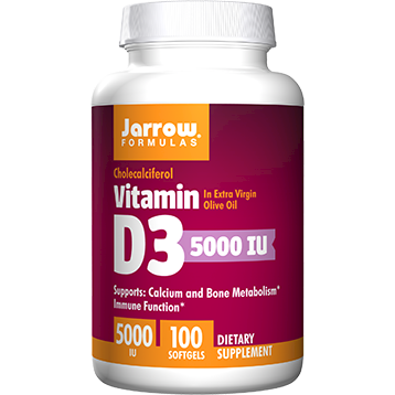Jarrow Formulas Vitamin D3 5000 IU 100 gels J00052