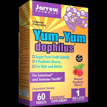 Jarrow Formulas Yum Yum Dophilus Raspberry 60 tabs J30218
