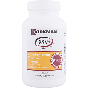 Kirkman Labs B 6 w Magnesium 120 chew wafers K24438