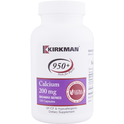Kirkman Labs Calcium 200 mg 120 caps K24322