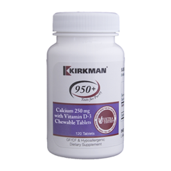 Kirkman Labs Calcium with Vitamin D 3 250 mg 120 chews K53201