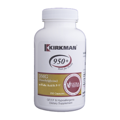 Kirkman Labs DMG with Folic Acid amp B12 250 capsules K50272