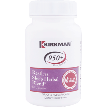Kirkman Labs Restless Sleep Herbal Blend 60 caps K24582