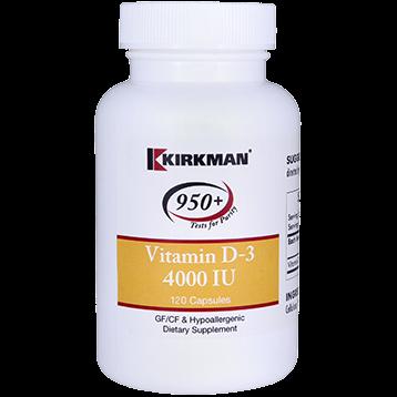 Kirkman Labs Vitamin D 3 4000 IU 120 caps K54341
