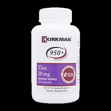 Kirkman Labs Zinc 20 mg 250 caps K24377